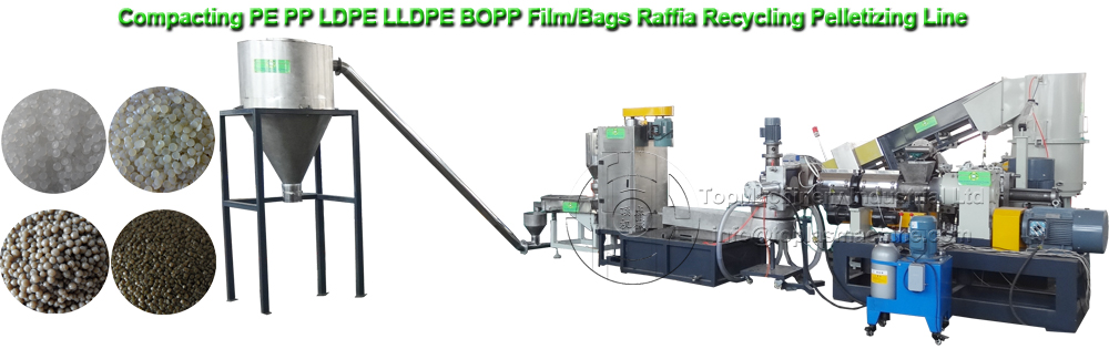 Plastic Recycling Machine, PE PP LDPE HDPE film recycling